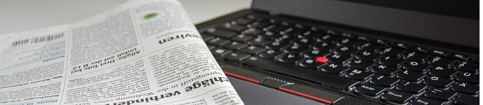 Zeitung und Internet